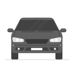 car isolated automobile in white background vector image