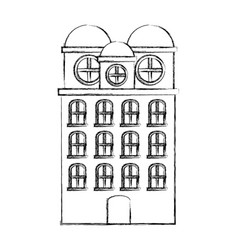 contour city building icon image vector image vector image
