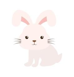 cute rabbit kawaii style vector image vector image