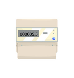 electronic measuring counter household measuring vector image vector image