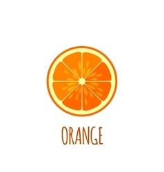 Half of orange Icon in flat style vector image