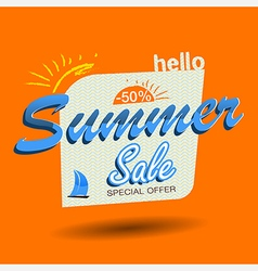 hello summer sale vector image