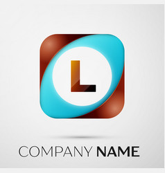 letter l logo symbol in the colorful square on vector image vector image