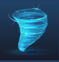 Light illuminated whirlwind glowing tornado vector