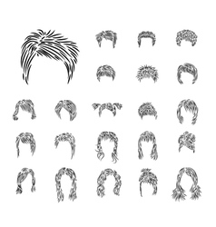 man woman hairdress vector image vector image