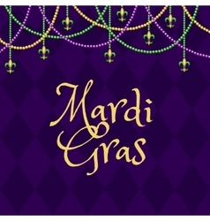 Mardi gras purple background vector image vector image
