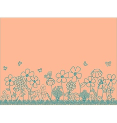 Peach Floral Background vector image vector image