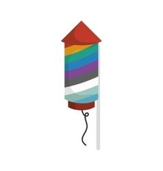 rocket firework festival vector image vector image