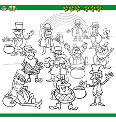 saint patrick day coloring book vector image vector image
