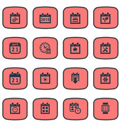 set of simple calendar icons vector image vector image