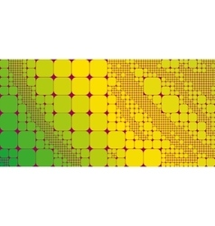 Square yellow green gradient geometrical abstract vector