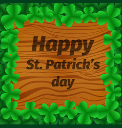 st patrick s day party poster background vector image