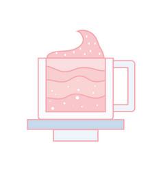 Tasty espresso coffe cup vector