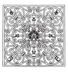 Wrought-iron square panel design made by george vector