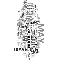 Your travel safety guide text word cloud concept vector