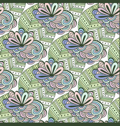 Zen art floral pattern zentangle coloring page vector