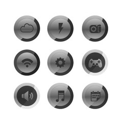 Mobile icons set vector