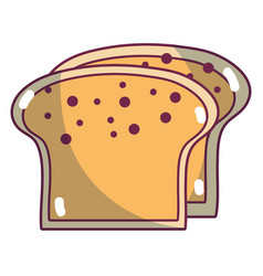 Yummy slices breads to eat food vector