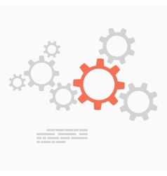 Flat design Gears concept vector image