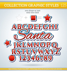 Santa Graphic Style for Design vector image