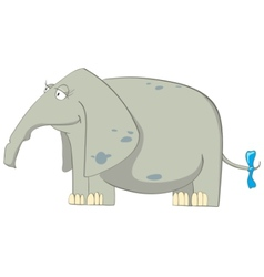 Cartoon character elephant vector