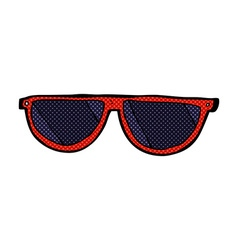 Comic cartoon sunglasses vector