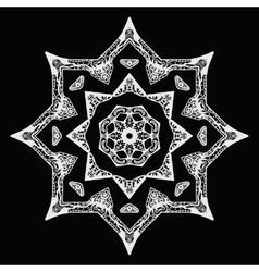 White star pattern with hand-drawn elements on vector