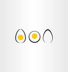 Egg icon set elements vector