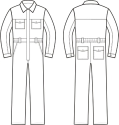 Work overalls front and back vector