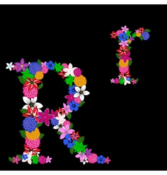 r letter vector image
