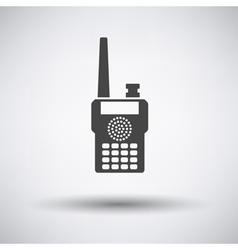 Portable radio icon vector image