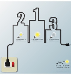 Podium electric wire line business infographic vector