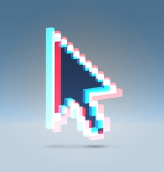 Arrow pointer 3d vector