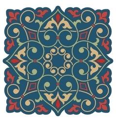 Arabic floral element for design vector image
