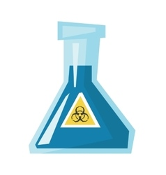 Beaker with biohazard sign vector