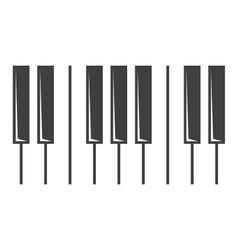 black piano key icon vector image vector image