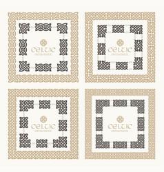 Celtic knot braided frame border ornament kit vector