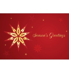Christmas card with star vector image vector image