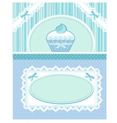 cupcake card vector image vector image