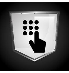 digital panel vector image