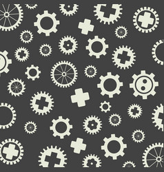 Gearss pattern gray background vector