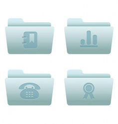 internet icons folders vector image vector image