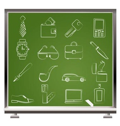 man accessories icons vector image