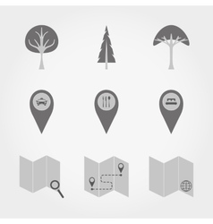 Mapscartographic markers and pointers vector image vector image