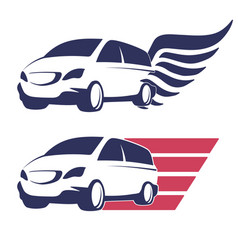 Minivan cargo delivery vector
