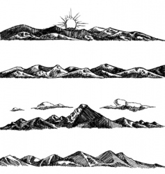 Mountain illustrations vector