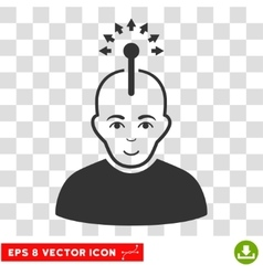 Optical neural interface eps icon vector