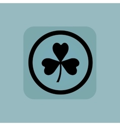 Pale blue clover sign vector