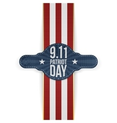 Patriot day 9-11 realistic patriotic banner vector