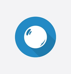 pearl Flat Blue Simple Icon with long shadow vector image